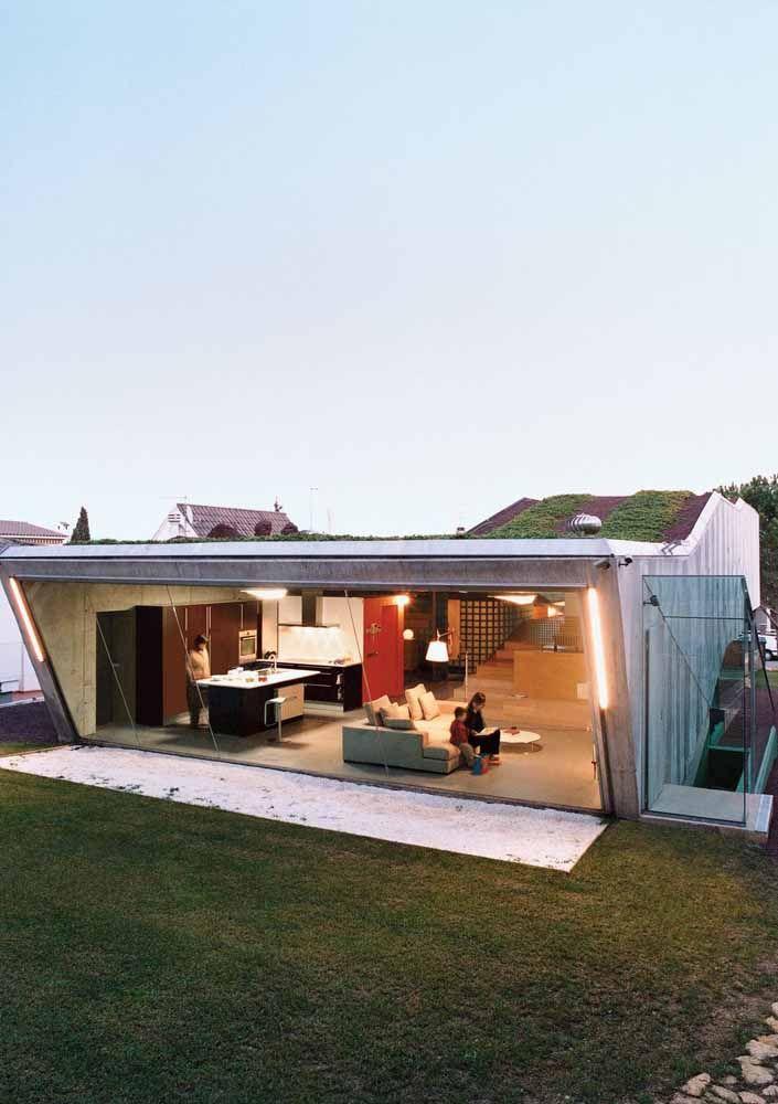 Projete a casa já levando em consideração o telhado verde