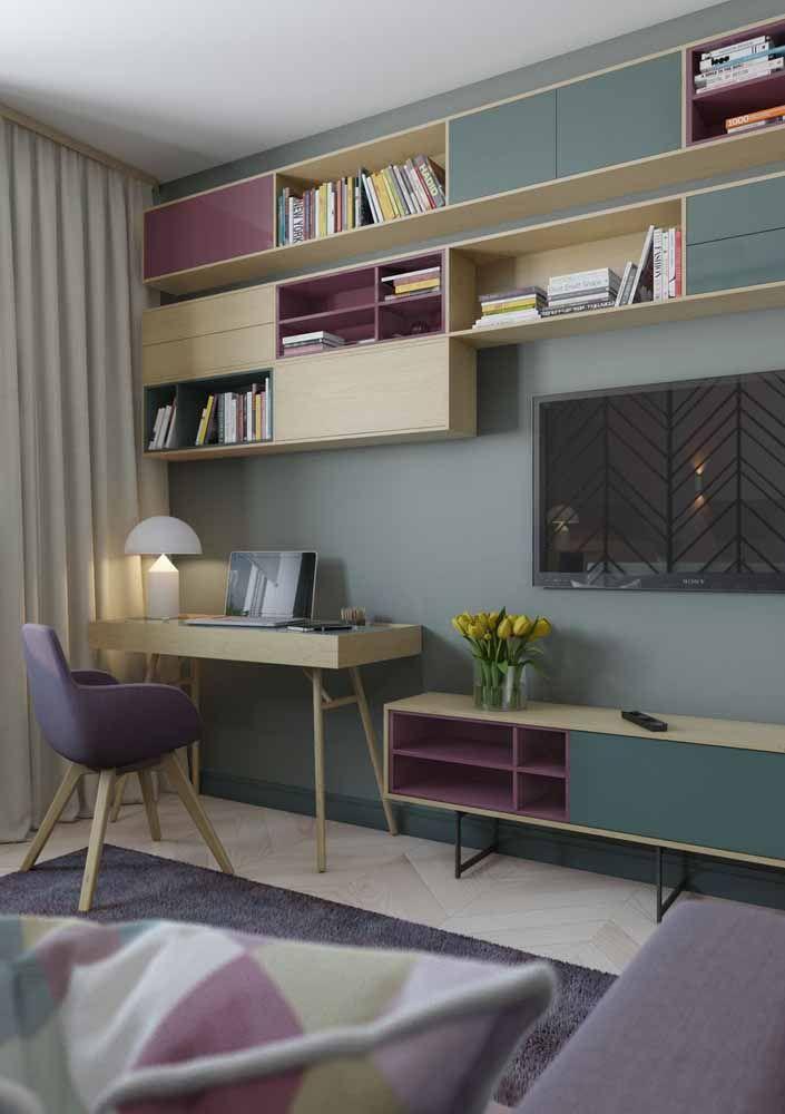 Se a ideia é planejar os móveis da casa toda não se esqueça de colocar a escrivaninha pequena na lista