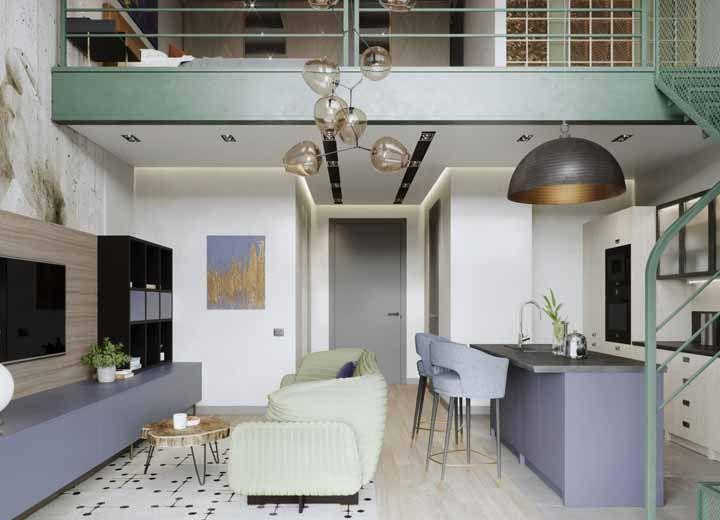 Mezaninos decorados: 65 projetos incríveis para você se inspirar