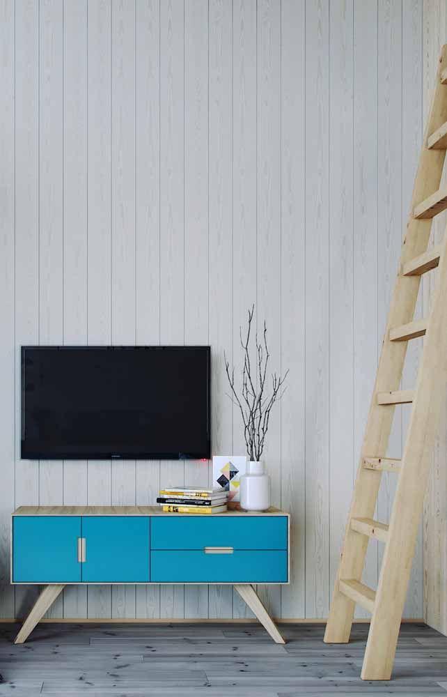 O azul turquesa está entre as cores preferidas quando o assunto é móvel retrô
