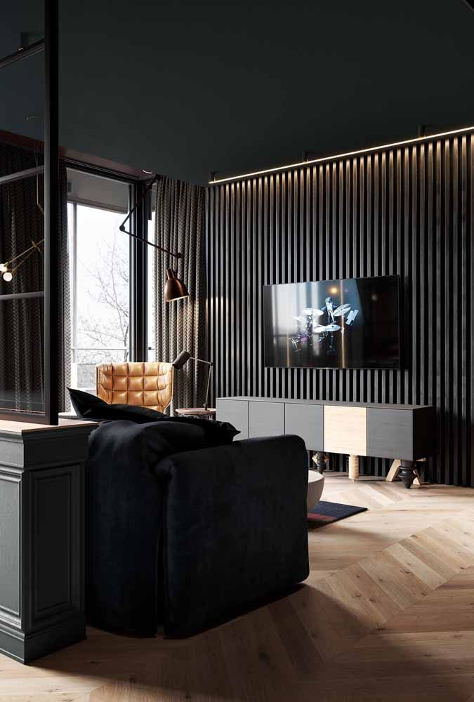 Propostas sofisticadas de decoração também podem se beneficiar do charme dos racks retrôs