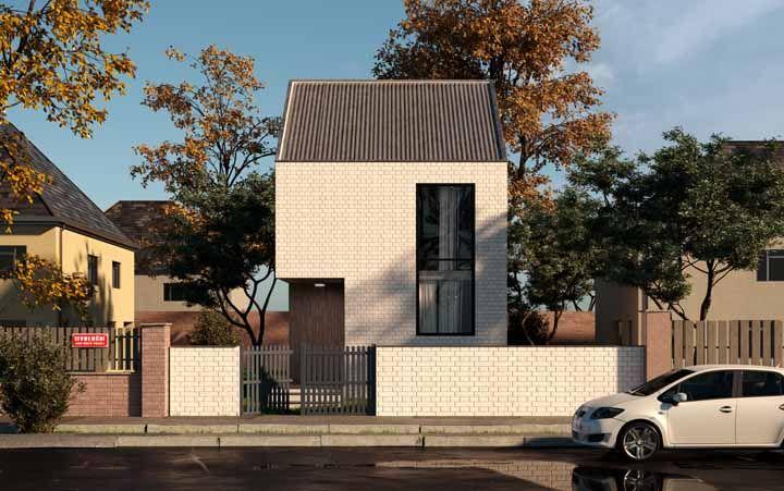 Tijolinhos brancos e uma portãozinho de madeira: uma releitura moderna das clássicas casinhas de campo