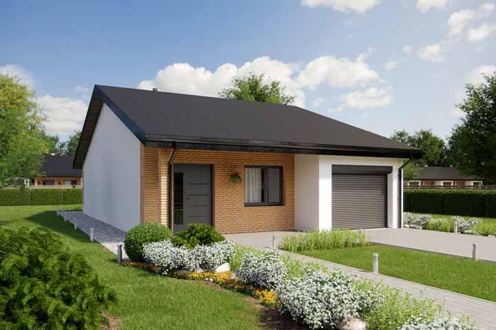 Se a ideia é criar um destaque com os tijolinhos, escolha para isso a parede principal da fachada