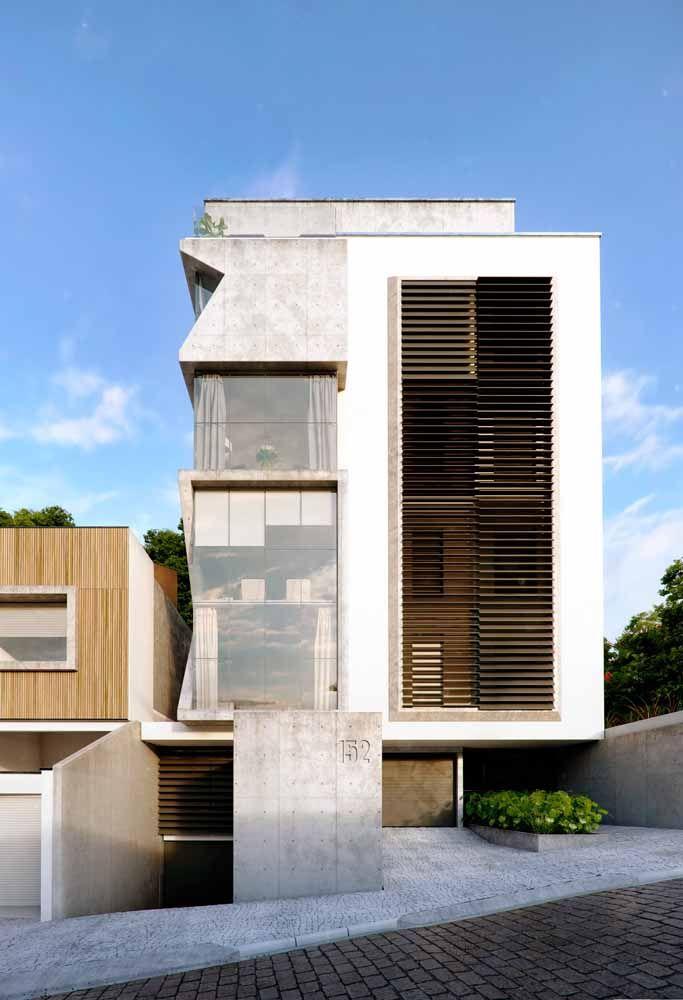O concreto permite a criação de formas, linhas e curvas diferenciadas para a fachada
