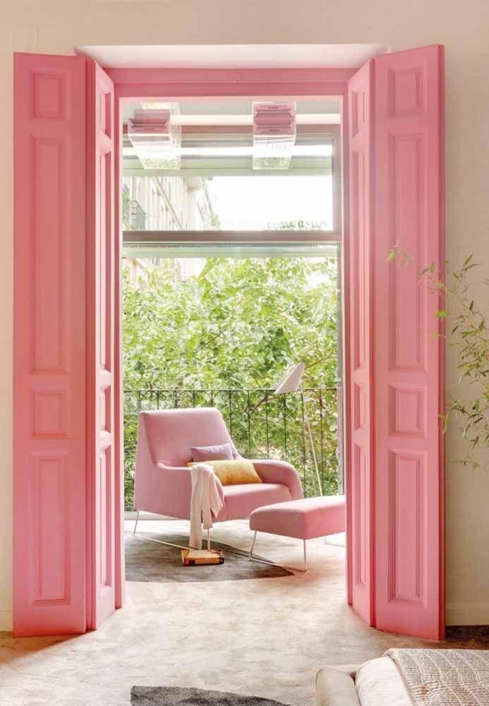 Para quem realmente gosta de rosa, esse é um ambiente inspirador