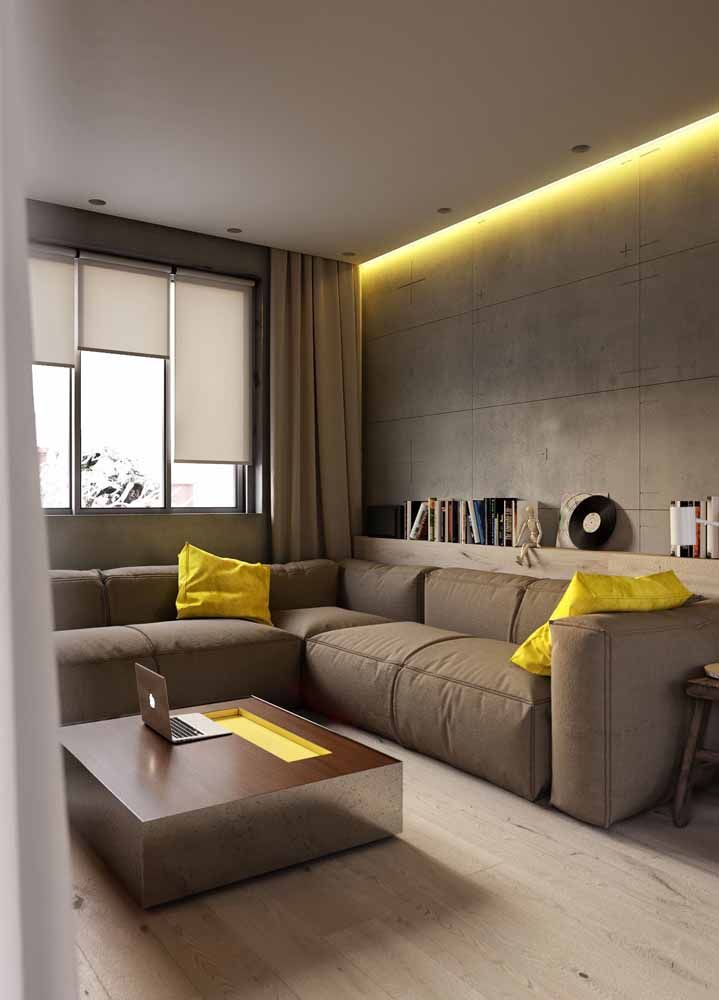 O charme mora nos detalhes: nessa sala, o amarelo é usado em doses equilibradas para garantir a proposta neutra