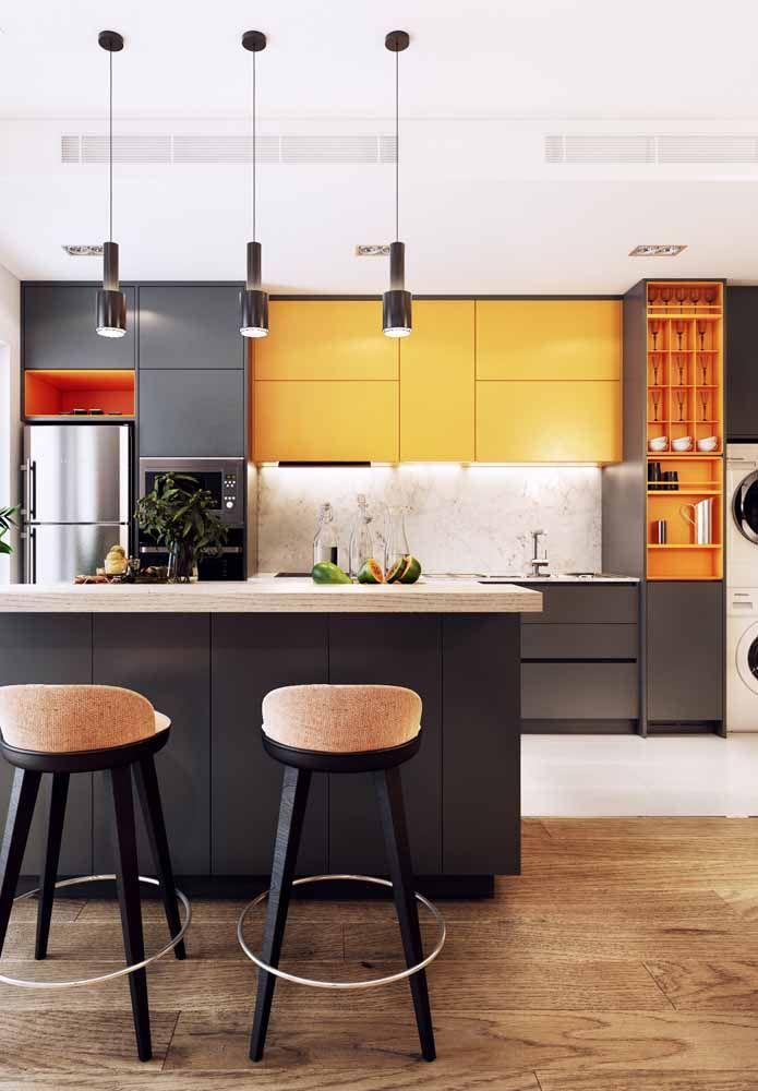 Para deixar a decor mais quente aposte na combinação entre amarelo e laranja