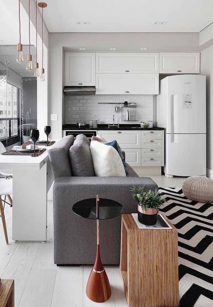 A decoração escandinava se encaixa perfeitamente com detalhes retrô