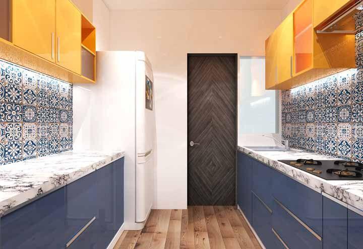 Azulejos portugueses são uma ótima pedida para a decoração de cozinhas retrôs