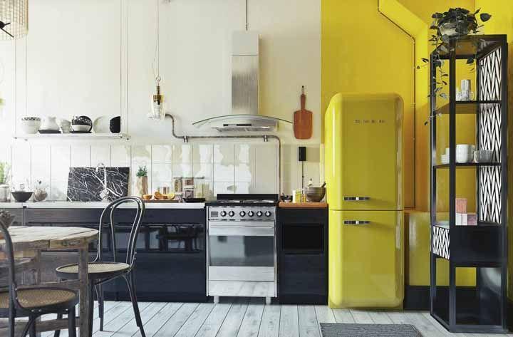 Cozinha retrô amarela: explore a alegria, a descontração e o bom humor da cor