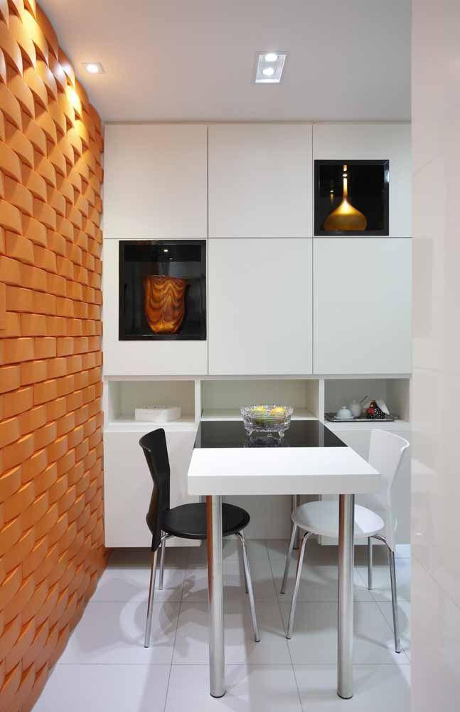 Efeito dos tijolinhos para trazer a cor em um ambiente interno