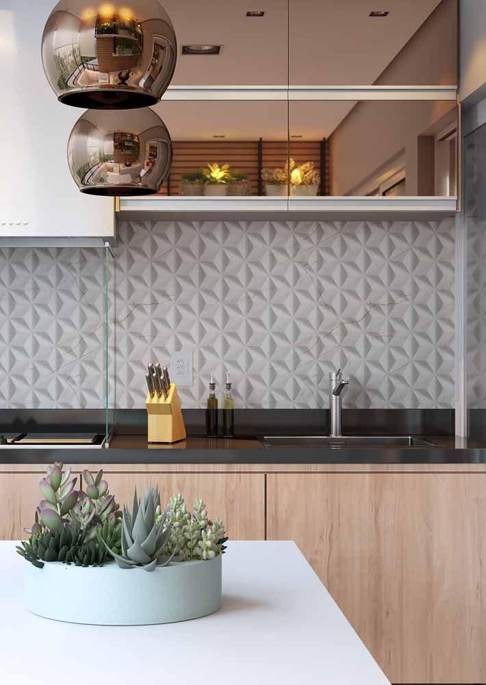 Leve brilho e sofisticação para a cozinha com luminárias em Rose Gold.