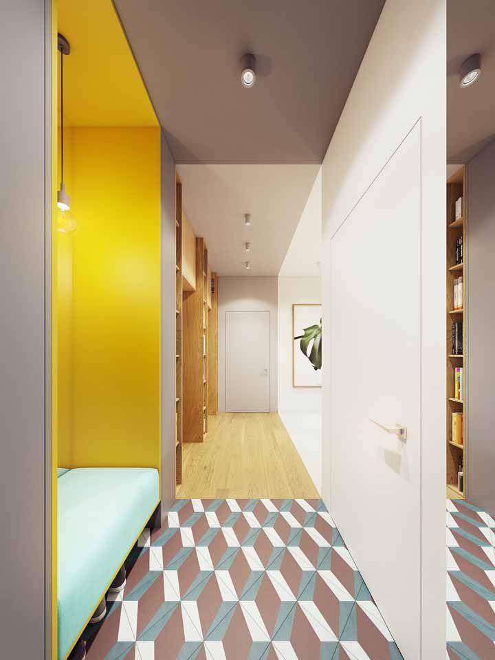Uma combinação cheia de contrastes que está chamando a atenção de todo mundo na decoração é o amarelo e o cinza