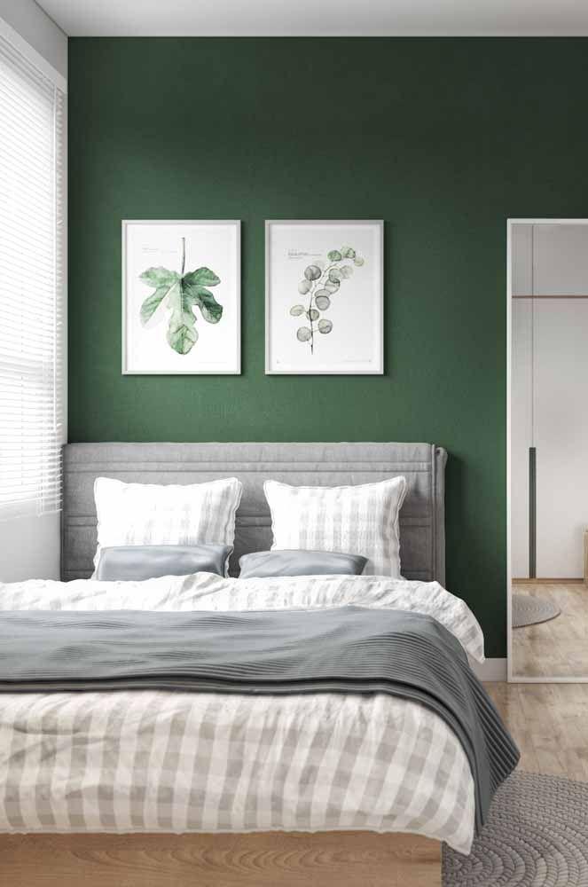 Combinação de cores para quarto: o verde chama o frescor da natureza no feng-shui