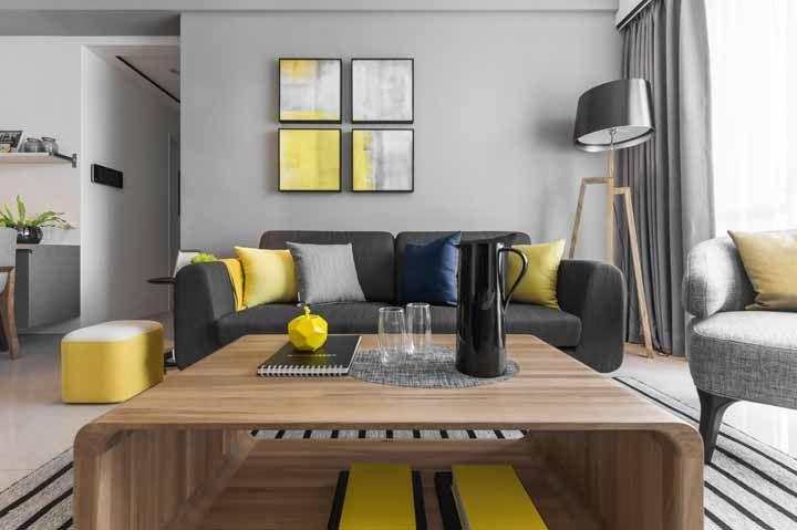 Para esta técnica milenar, o amarelo simboliza não só a riqueza mas a sabedoria e a comunicação, perfeita para ser aplicada à sala de estar