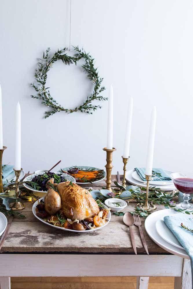 Decoração de mesa de Natal com frutas, para trazer mais cores, aromas e sabores para a sua ceia