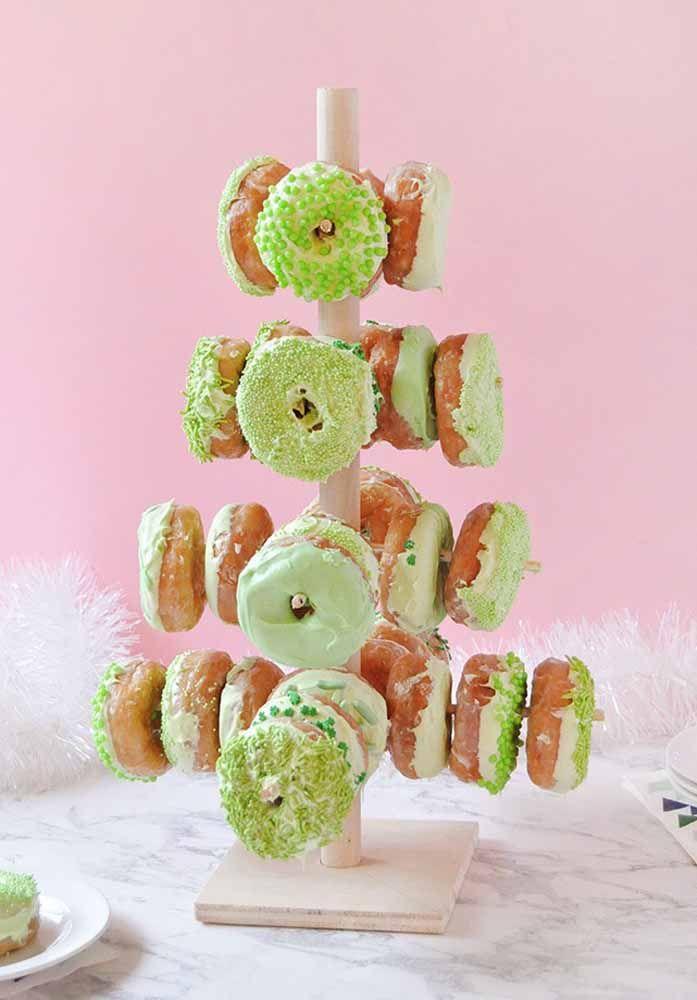 Outra decoração natalina para bolo ou panetone: neve de açúcar de confeiteiro!