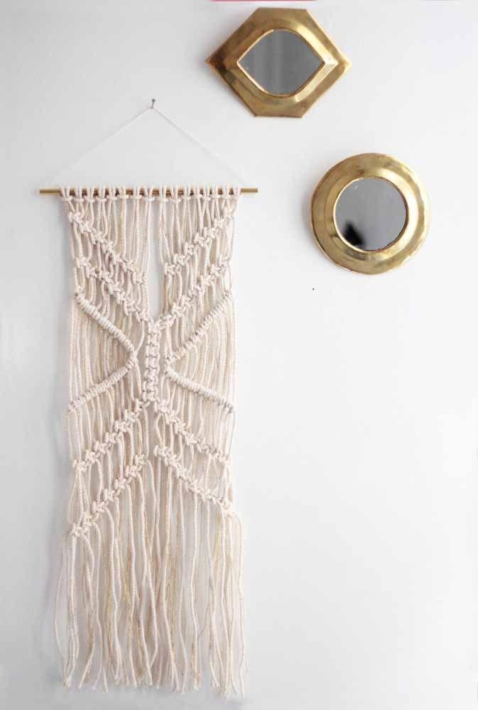 Painel de Macramê em nó duplo diagonal: Lindo, fácil e combina com qualquer lugar!