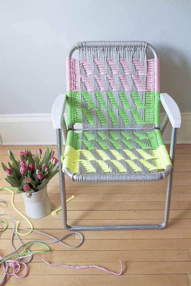 Cadeira de macramê: A mistura de versatilidade com a criatividade.