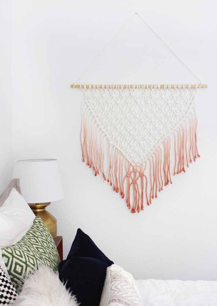Painel de macramê modelo bastante utilizado para o quarto e cabeceiras de cama