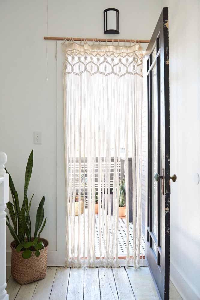 Cortina de macramê para porta: Um espetáculo de decoração