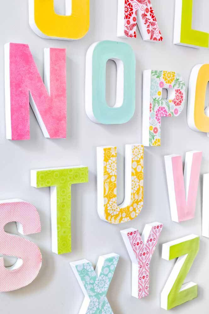 Mural de letras para festas