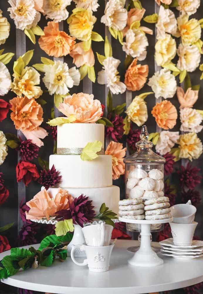 Decoração de casamento com flores de papel: já pensou na economia que você pode ter com elas? Sem contar que fica lindo!