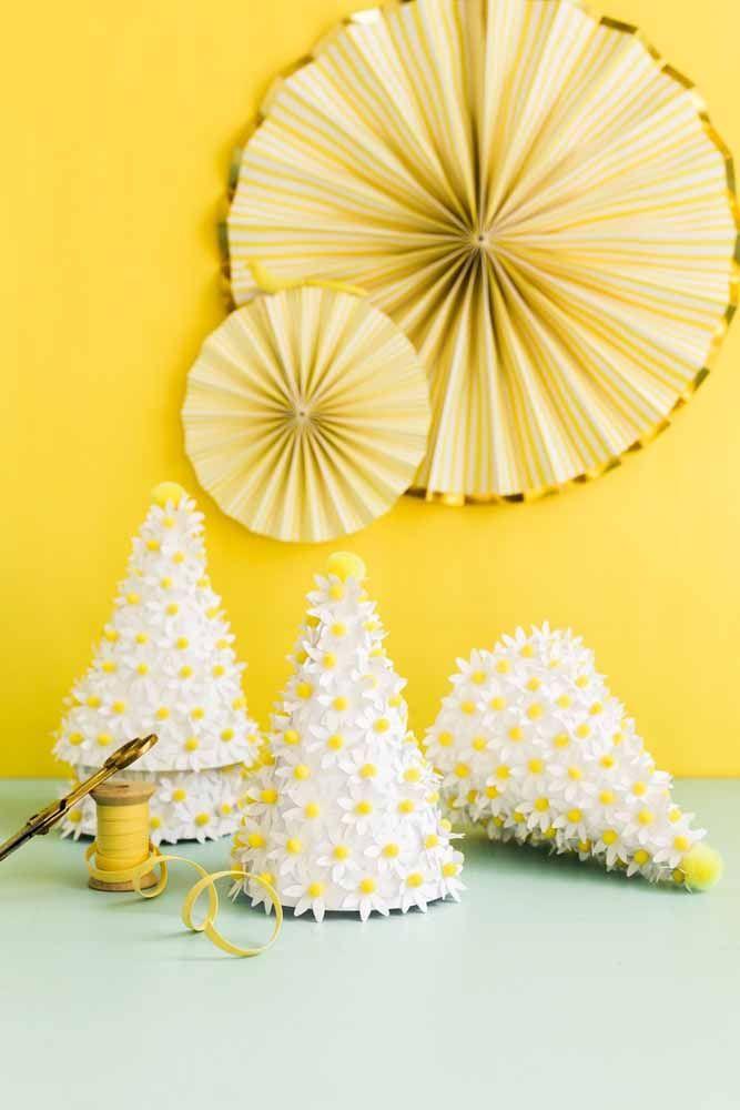 Cones de mini margaridas: decore o que quiser com eles