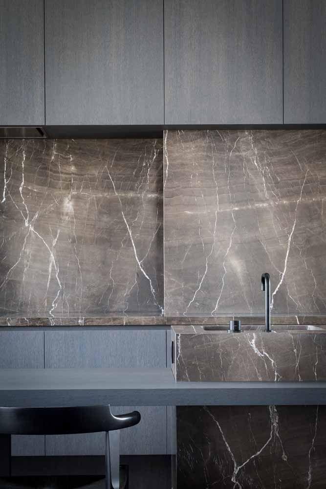 O mármore marrom é o máximo da sofisticação que a cor consegue chegar