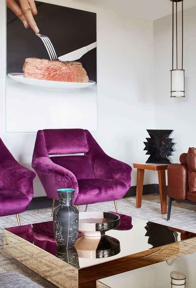 Roxo com veludo: a combinação certa para quem deseja expressar luxo e refinamento