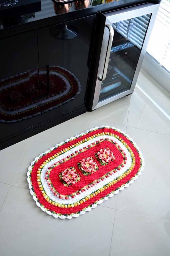 Os tapetes de crochê artesanais trazem mais aconchego e afeto para a sua decoração