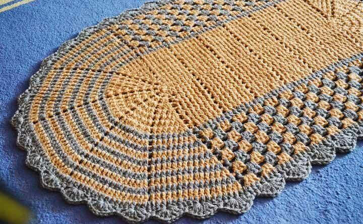 Tapete de crochê oval: descubra incríveis ideias para fazer você mesma