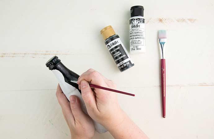 Tipos de tinta para garrafa de vidro