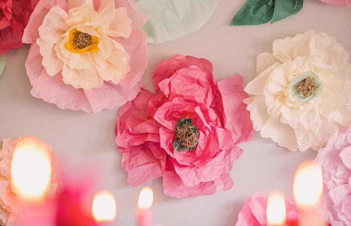 Flores de papel que você pode fazer