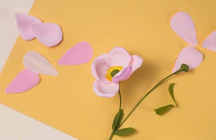 Flores de papel: origami