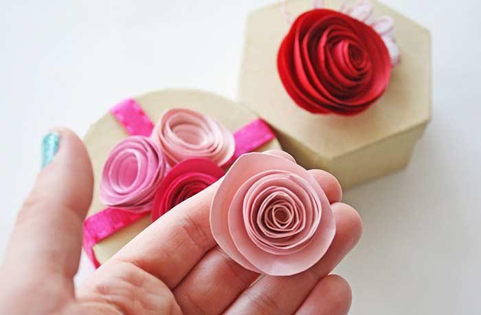 Flores de papel: recorte