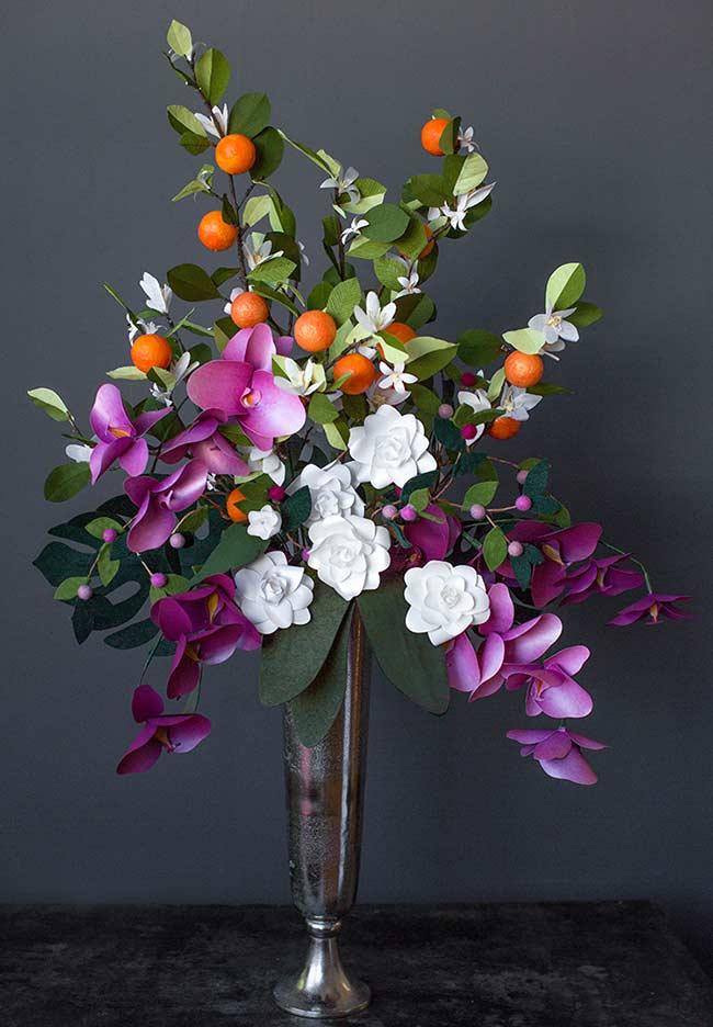 Flores de papel para arranjo de flores