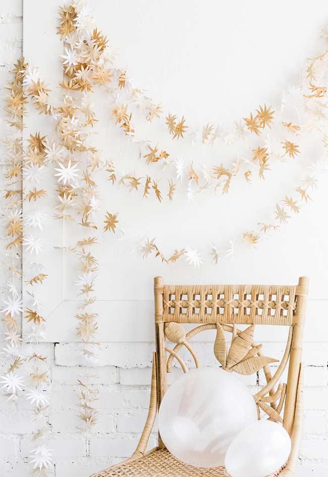 Flores de natal para mural decorativo