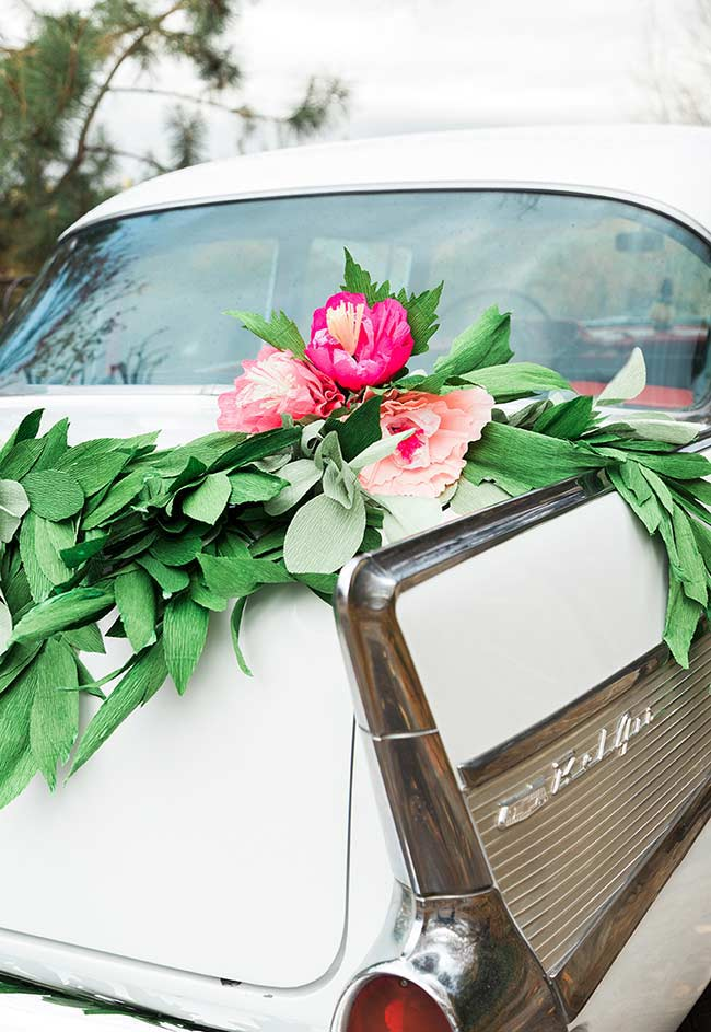 Flores de papel para casamento