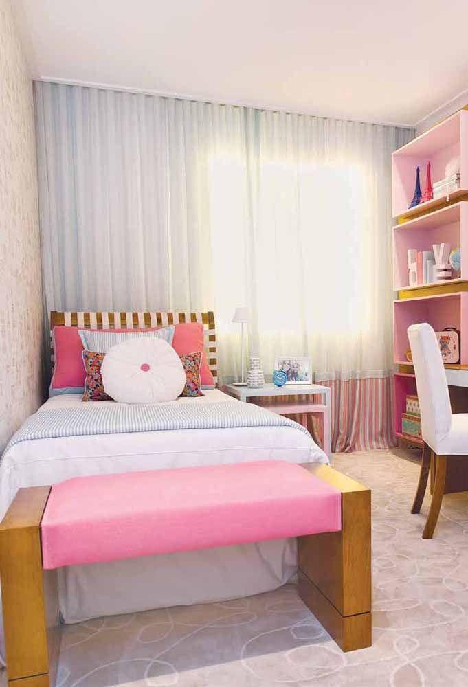No quarto infantil, o recamier também se revela uma ótima opção; veja como o móvel se encaixa perfeitamente nessa proposta