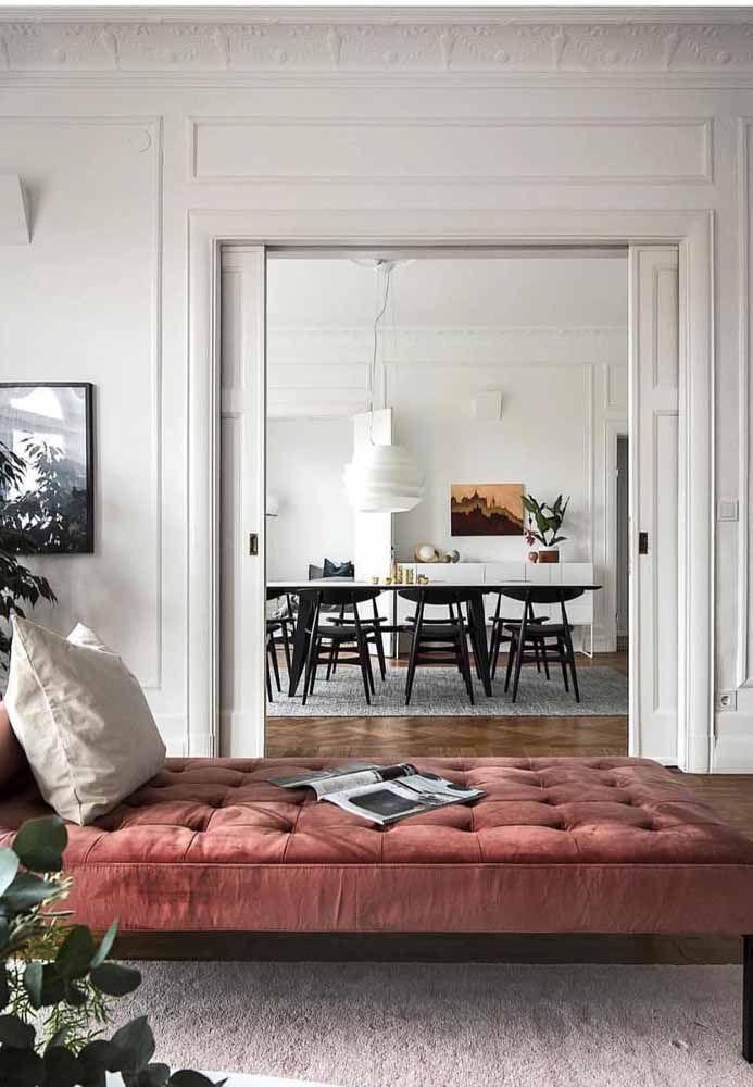 A escolha da cor certa para o recamier é fundamental para o sucesso da decoração