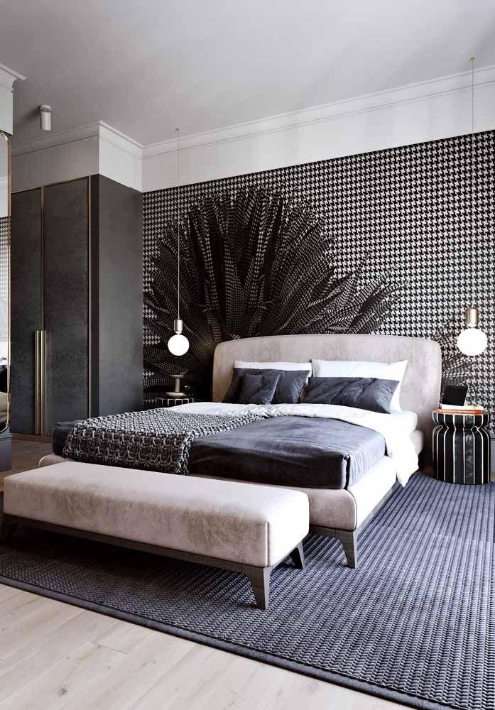 Cama e recamier formam um par harmonioso e elegante para o quarto