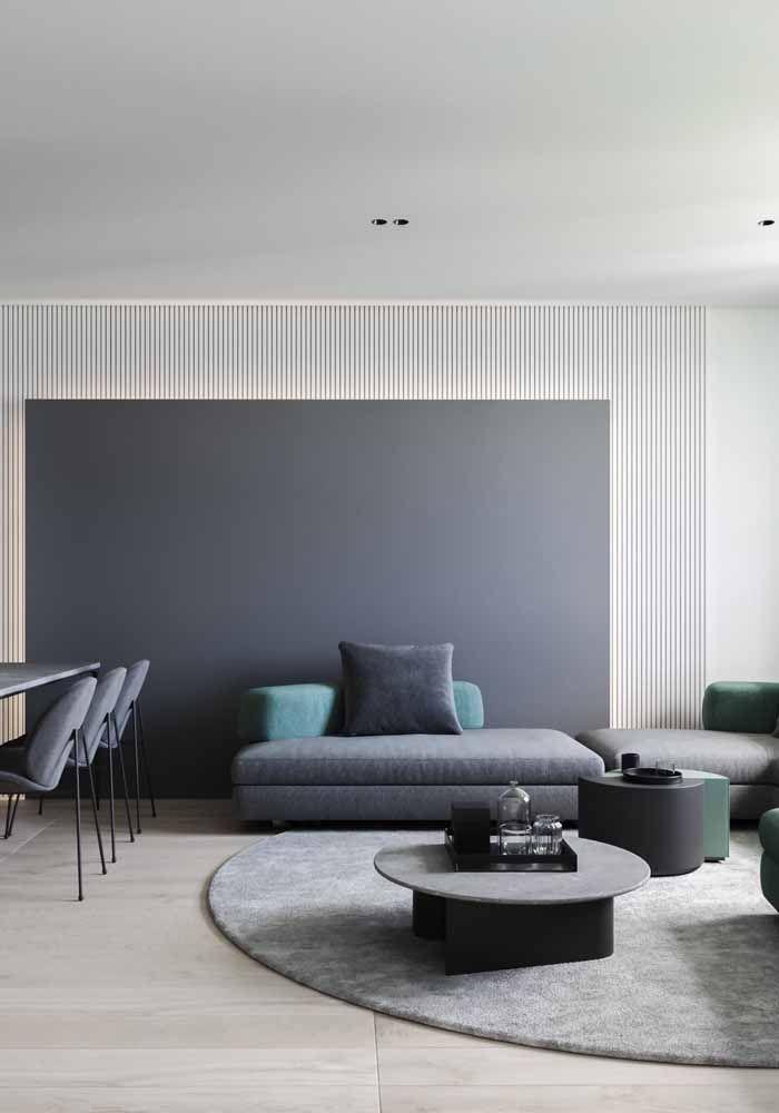 Recamier ou sofá? Uma mistura entre as duas versões para uma sala moderna