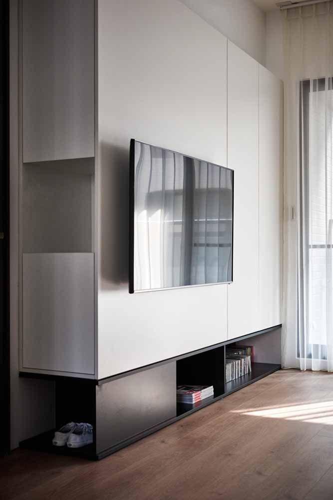 Móvel preto e branco pode ser a solução fácil e rápida para a decor