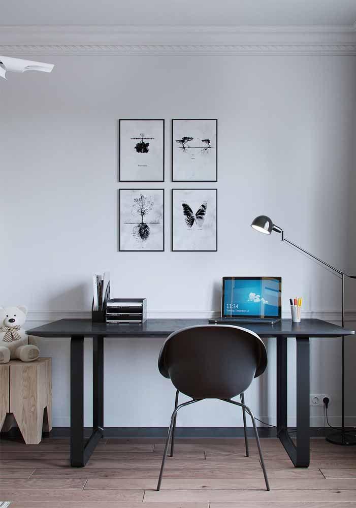 O preto e o branco pode ser glamouroso, mas também pode ser simples e discreto