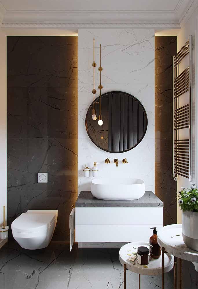 Não dá para ser mais elegante e sofisticado do que quando se mistura preto, branco e dourado