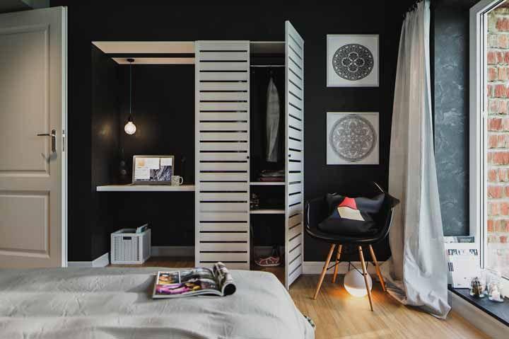 O preto e branco também tem lugar garantido nas propostas joviais de decoração