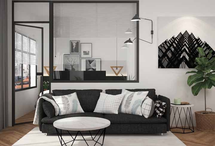 Estilos industrial e escandinavo estão apoiados no conceito 'preto e branco' de decoração