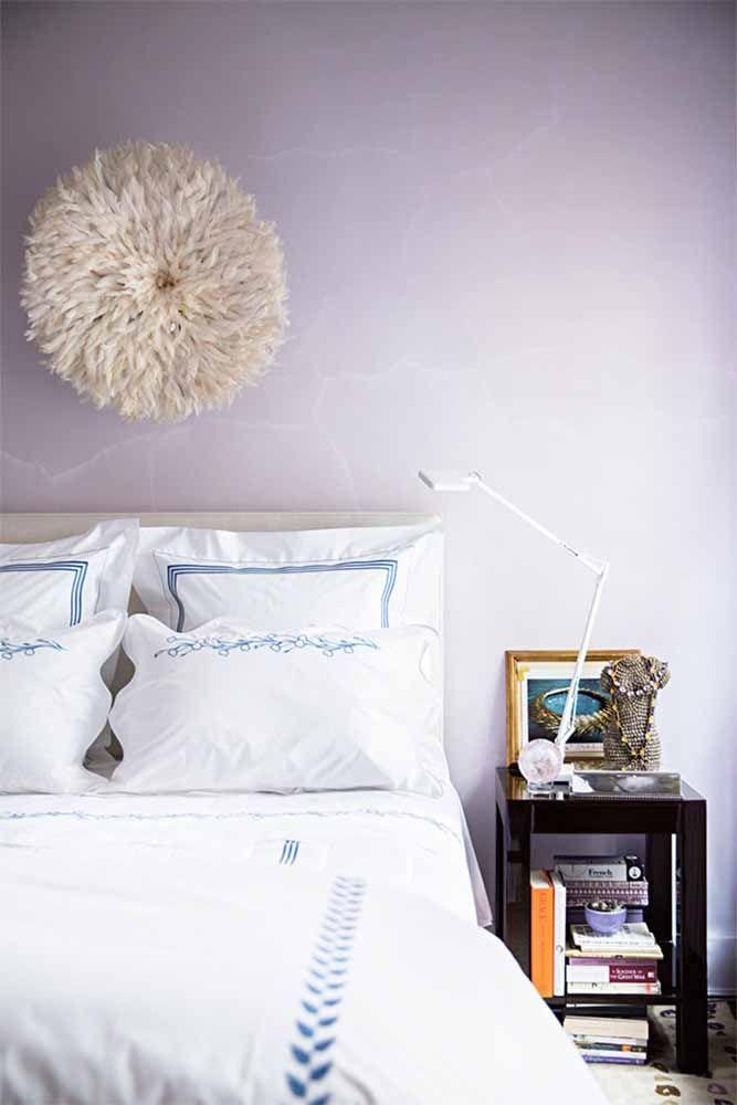 Mais uma opção de tom de lilás para pintar na parede do quarto