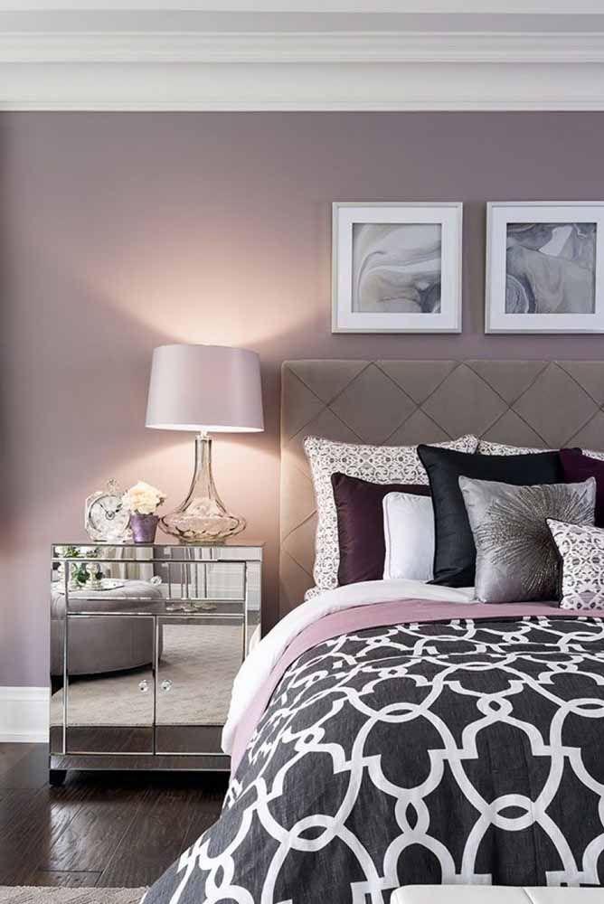 O lilás deixa o clima mais calmo, sendo ótimo para dormir
